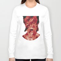bowie Long Sleeve T-shirts featuring Bowie by Aivé Trujillo
