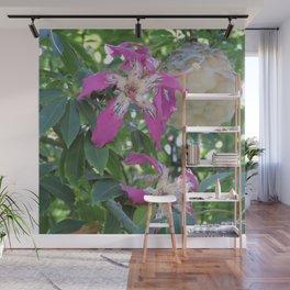 Silk Floss Tree Blossom & Fluff Wall Mural