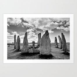 Stone Circle Callanish Stones Art Print