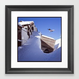Ben Bilock Method Avoriaz Snowboard Mountain Hasselblad Framed Art Print