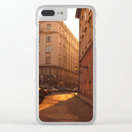 Budapest Street IV Clear iPhone Case