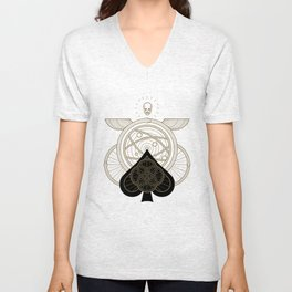 Omnia Oscura Ace of Spades Unisex V-Neck