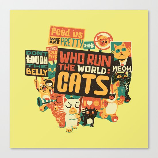Who Run The World Cats Canvas Print