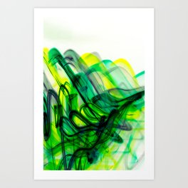Green Flow Art Print