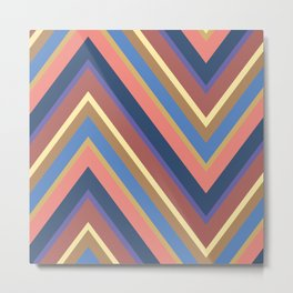 A different geometric zigzag pattern Metal Print