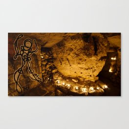 Le Mur de Broches // The Wall of Pins, Squat du Sud Canvas Print