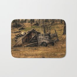 Visions Of The Past - Rustic Shed Bath Mat