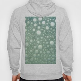 Abstract green teal modern polka dots texture pattern Hoody