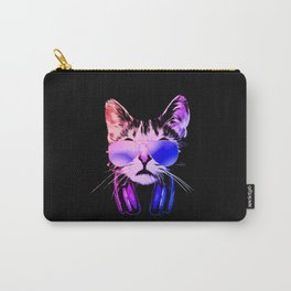 Neon DJ Cat Carry-All Pouch