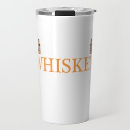 Whiskey Bourbon Helps Alcohol T-Shirt Gift Fathersday new Cat Catlover Kitty Travel Mug
