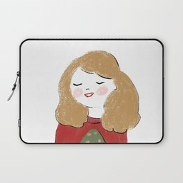 The girl waiting for christmas Laptop Sleeve