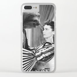 Sloth with Rossella O'Hara Clear iPhone Case