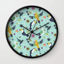 Tropical Birds Wall Clock