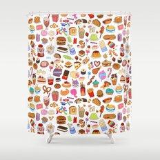 Cute food Shower Curtain