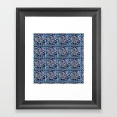 Blue windows Framed Art Print