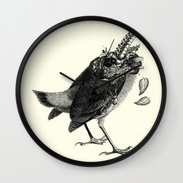 Decapitated bird Wall Clock