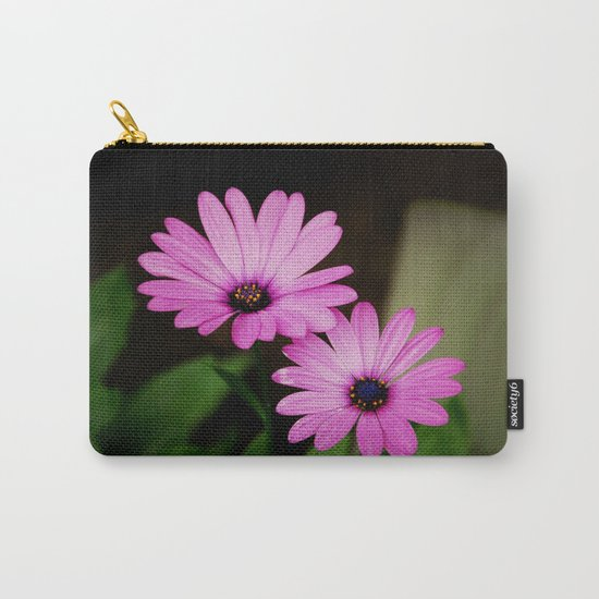 Pink Wild Flowers Carry-All Pouch