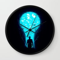 bright Wall Clocks featuring Bright Side by nicebleed