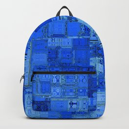 Blue World Abstract Geometric Pattern Backpack
