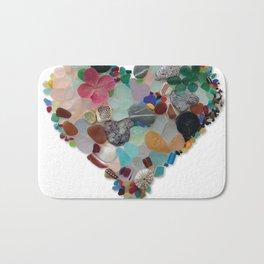 Love - Original Sea Glass Heart Badematte