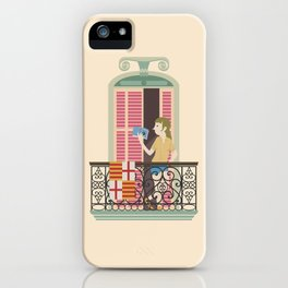 Reading in Barcelona iPhone Case
