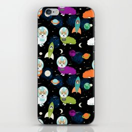 Corgi astronaut red coat corgi space cadet outer space dog breed corgis iPhone Skin
