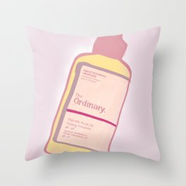cute skincare inspired by the ordinary Throw Pillow