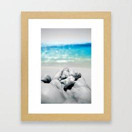 shells in hand Framed Art Print
