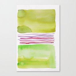 16    |181026 Lines & Color Block | Watercolor Abstract | Modern Watercolor Art Canvas Print