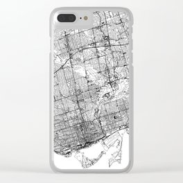 Toronto White Map Clear iPhone Case