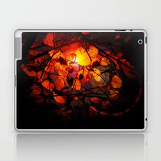 Red and Golden Birch Leaves Laptop & iPad Skin
