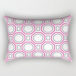 Pink Harmony in Symmetry Rectangular Pillow