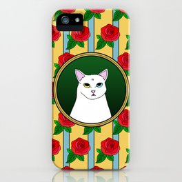 Fat D. Loves Roses iPhone Case