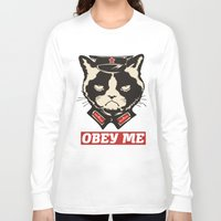 obey Long Sleeve T-shirts featuring OBEY by solomnikov