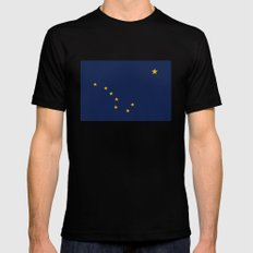 Alaskan State Flag - Authentic version Black Mens Fitted Tee LARGE