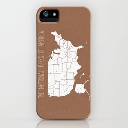 The Hand-Painted National Parks of America iPhone Case