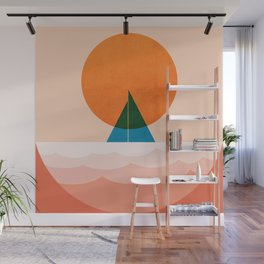 Abstraction_SUN_Sailing_Ocean_Minimalism_001 Wall Mural