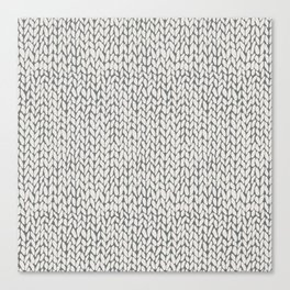 Hand Knit Grey Canvas Print