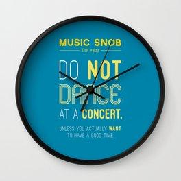 Dancing at a Concert — Music Snob Tip #323 Wall Clock