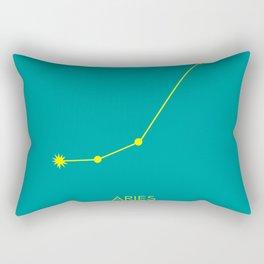 ARIES (YELLOW-TEAL STAR SIGN) Rectangular Pillow