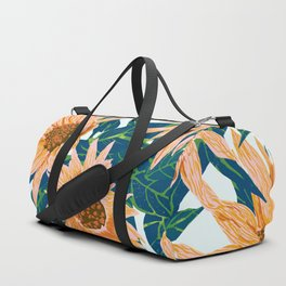 Blush Sunflowers Duffle Bag