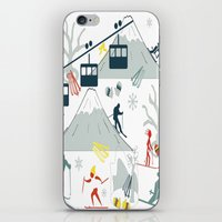 ski iPhone & iPod Skins featuring SKI LIFTS by BLUE VELVET DESIGNS