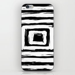 Minimal Black and White Square Rectangle Pattern iPhone Skin