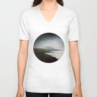 geology V-neck T-shirts featuring Mount Teide and dust by UtArt