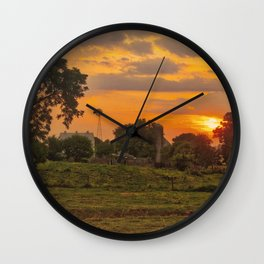 1296 - June Sunset (texture edit) Wall Clock