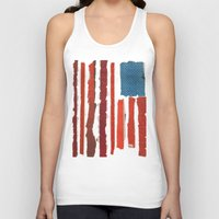 american flag Tank Tops featuring American Flag  by Robert Payton