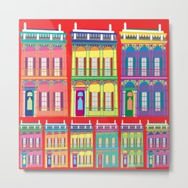 NEW ORLEANS HOUSES Metal Print