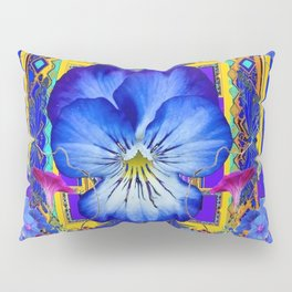 DECORATIVE BLUE PANSY & VINING  MORNING GLORIES Pillow Sham