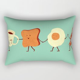 Let's All Go And Have Breakfast Rectangular Pillow
