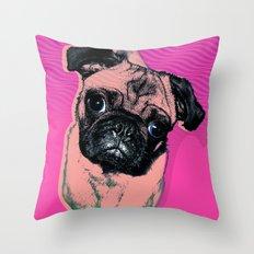 Pug #1 Throw Pillow
